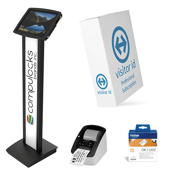 visitor id Kiosk Floor Stand Bundle Professional