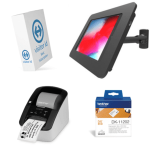 visitor id Kiosk Wall Mount Basic Bundle